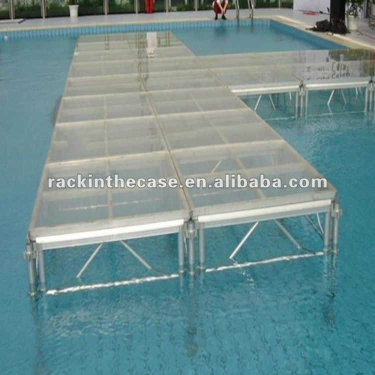 Swiming pool fashion show aluminum portable stage with for Pool fashion show