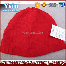 fashion design hot sale red winter beanie knitted hat