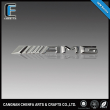 custom new style 3D ABS plastic chrome emblem badge car logo for AMG