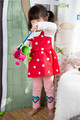 Más nuevo barata ocasional de lujo del diseño últimas casual primavera de China la historieta de manga larga puntos completa encantadora venta al por mayor de la muchacha vestido