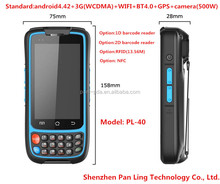 PL40 CB136 MTK6572 dual Core 1.2GHZ 4.0 Inch GPS waterproof barcode scanner screen