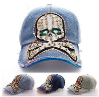 china wholesale worn-out cap manufacturers skull baseball caps hats