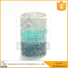 100% Handmade High Mosaic Glass Candle Holder
