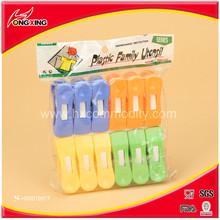 Plastic Nonslip Clothespins 12 Pcs Assorted Colors