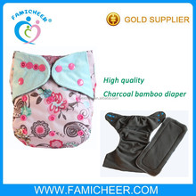 Famicheer Washable Reusable bamboo Pocket Antibacterial one size diapers
