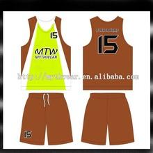 Wholesale custom made reversible basketball jersey basketball wear