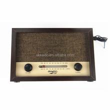 Portable home antique Wooden style custom retro/antique/vintage radio