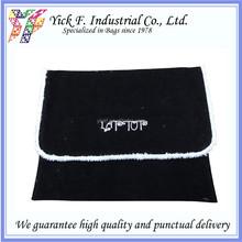Simple Black Polyester Velvet 11 inch Laptop bag / laptop sleeve