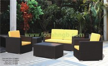 Fashion backyard rattan table and chair