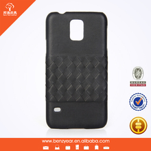 Weaving decorative genuine leather phone case cover for samsung S5 , for samsung S6 case