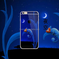 Factory hot selling 3D Night Sky sublimation mobile cover for iphone 6 phone case
