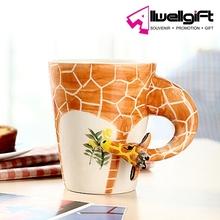 Hand-Painted Ceramic Cups Giraffe Style coffee mug