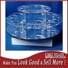 custom spinning nail polish display rack, acrylic rotating nail polish display rack