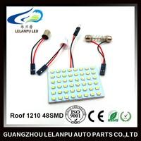 Roof 1210 48SMD T10 BA9S Festoon Adapter Auto Led Dome Light Led Plate Lights