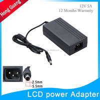 power supply 12 volts 5 amps computer LCD 12v dc power adapter