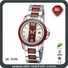 wooden trim stainless steel automatic mechancial men watch brands