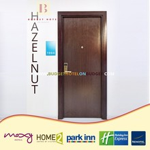 Hazelnut 3 star hotel wood panel door design