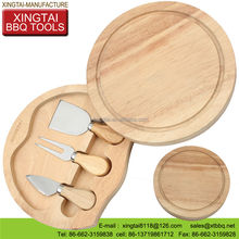 stainless steel 5pcs wooden handle cheese fondue set