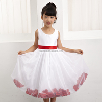 High quality one piece western wear satin girls party dresses