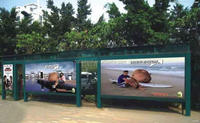 Cheapest hot sell transit bus stop shelter ad