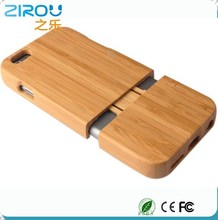 Natural Bamboo Wooded Case For iPhone 6 plus 5.5 inch True Wood Hard Back Cover Shell Protector For iphone6