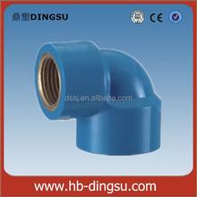 Plastic PVC Pipe Fittings 90 Degree Copper Thread Elbow