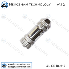 M12 female shielded 3pin 4pin 5pin 8pin connector for monitor and control unit