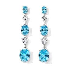 Absolute aquamarine earrings brass dangling earrings
