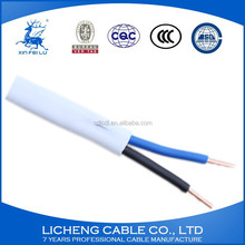 Flat Type Sheath Electric Wire Bvvb 2 Core With Earth Ground Wire 2x1.5 mm2