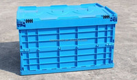 Taizhou Plastic Foldable Container Box With Lid,Sale Folding Closed Stable Plastic Moving Boxes,Plastic Folding Crate