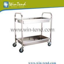 Durable Utility Stainless Steel Hotel Trolley Use for Collecting