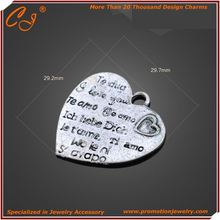 Message in heart i want to say Fashion Heart Silver In Low MOQ Yiwu Cute Jewlery Co., Ltd. MOQ inquiry