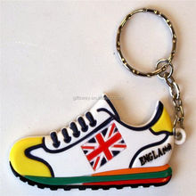 Hot sale 3D Soft PVC custom shoe shaped key chains