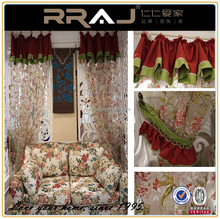Country stlye cotton embroidery home curtain
