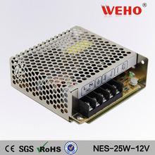 WEHO NES 25W single output 12v power supply led driver 12v 2.1a