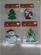 Silica Gel Christmas Tree Sticker Glass Shop Window Wall Art For Christmas Indoor Home Decoration