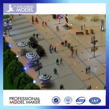 miniature people and road, tree of scale project models