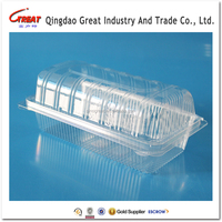 Disposable Clear Clamshell Cake Plastic Packaging Box