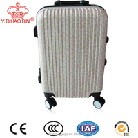Spinner Caster and Suitcase Type abs+pc shell aluminum trolley luggage