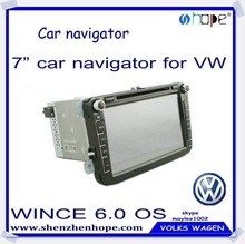 """Car DVD GPS satellite nevigation system Manufacture for VW autos with dvd player,7"""" resistive screen ,WINCE system"""