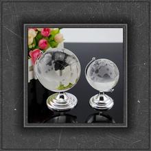 Modern design globe crystal for birthday gift