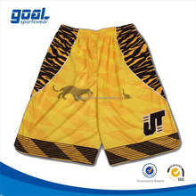Best quality school 2015 new design basketball team shorts