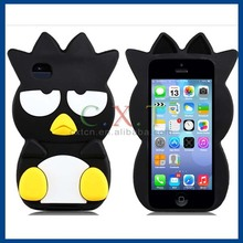 3D Bird Design Silicone Protective Case for iPhone 4S/4 (Black)