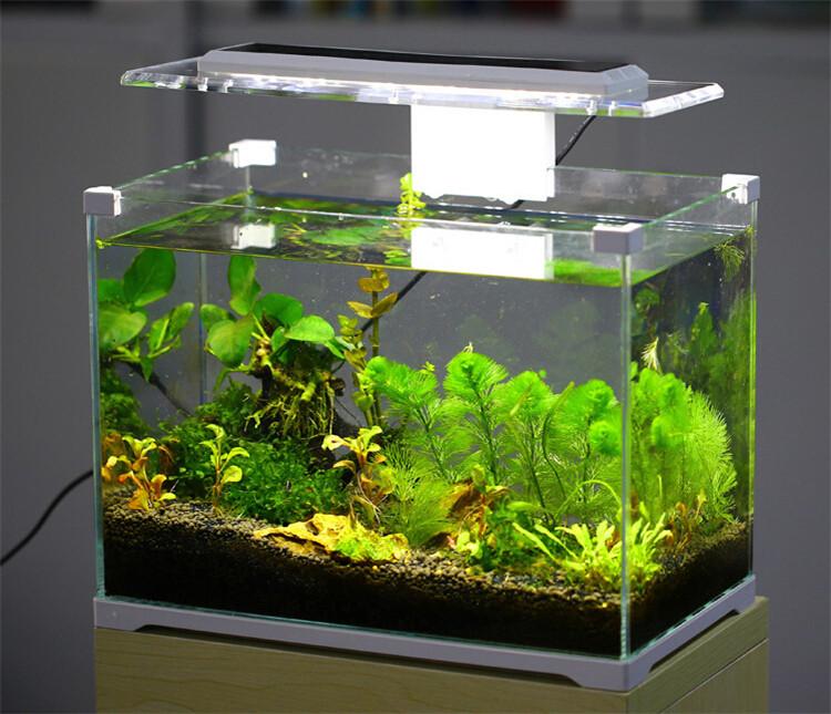 Aquarium sunsun low iron glass cube garden mini fish tank for Mini aquarium