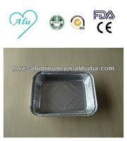 Household Environmental Rectangular Disposable Takeaway Aluminum Foil Pot Pie Pan