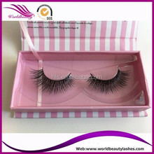 Wholesale real mink fur eyelash with private packageing