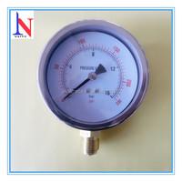 4 inch standard stainless steel case bourdon tube pressure gauge