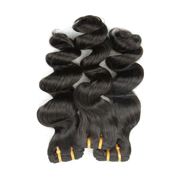 Livraison gratuite pour 5a cheveux lâche vague de haute qualité 100% cheveux humains extension
