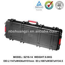 Plastic hard gun case with foam