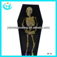 coffin skeleton irradiative and voice coffin ghost halloween coffin decoration